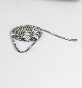 Wholesale High Quality Stainless Steel Round Bead ball Chain
