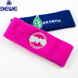 Wholesale Terry Cotton Sports Tennis Headband Design Your Own Sweatband
