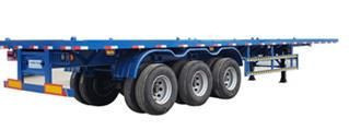 China new tri axles 40 footer self loading container trailer