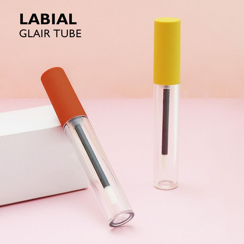 Lip gloss tube packing material square lip glaze tube packing material transparent frosted lip gloss tube packing material spot lip gloss bottle empty tube support OEM OEM customization