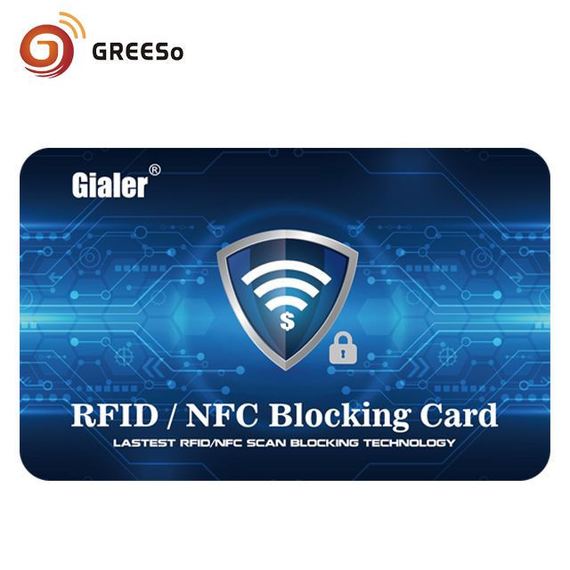 RFID & NFC blocking card interference anti-theft brush information blocking card