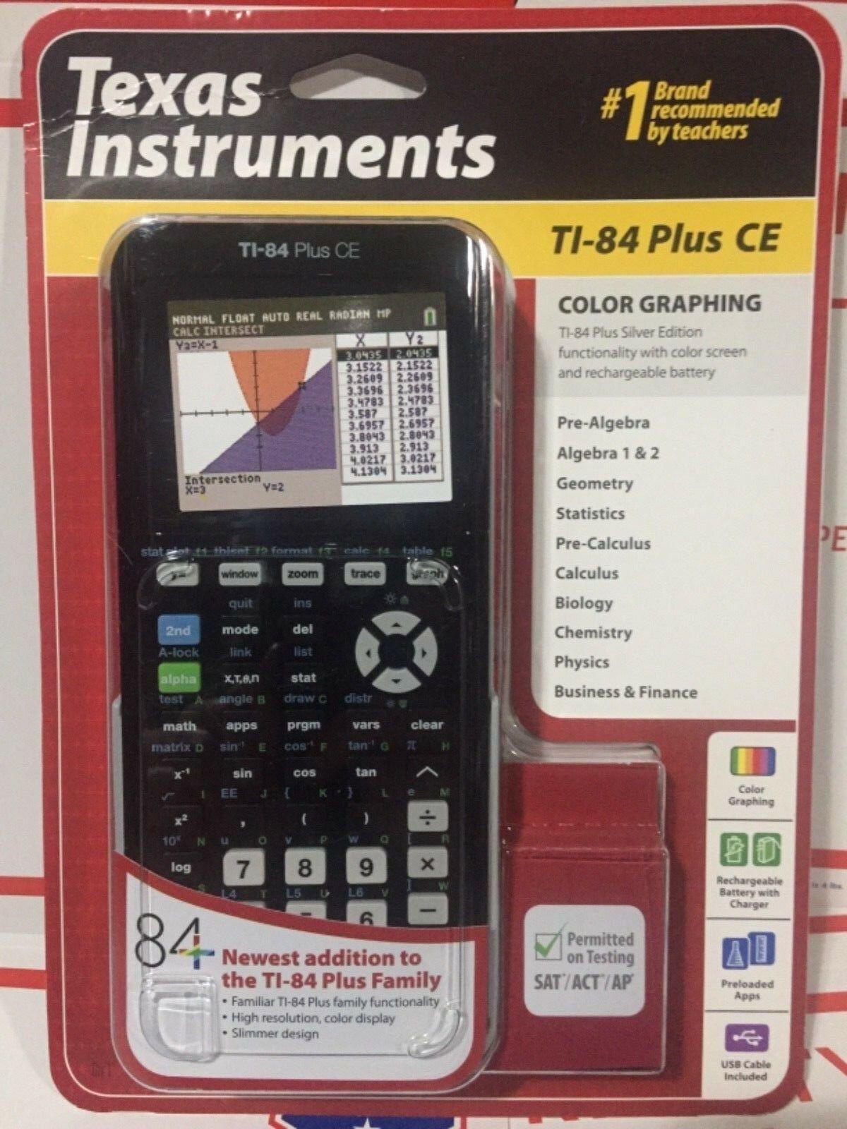 New TI-84 Plus CE Graphing Calculator