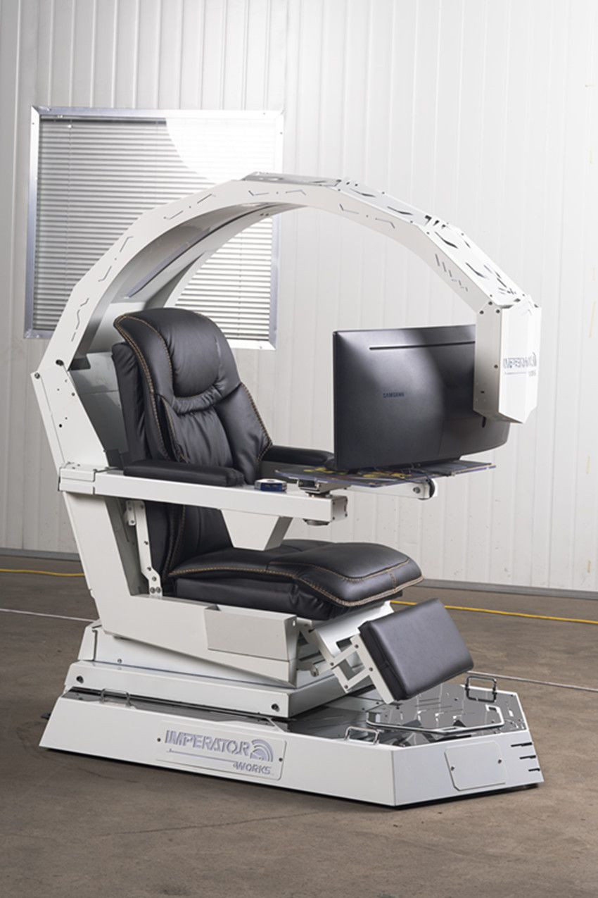 Imperator works IW-R1 computer chair cockpit for 3 monitors