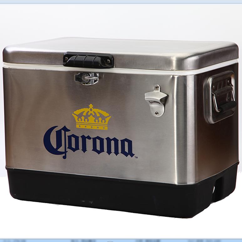 51L meatl cooler box