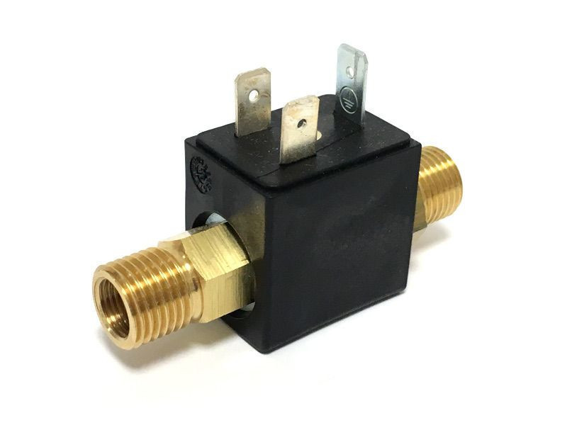 2/2-way solenoid valve BMV 60404, in-/out let: 1/8 female thread + 1/4  male thread, DN: 2,8mm, EPDM-sealing, insulation class F, 230V AC,   Customs Code: 84137081