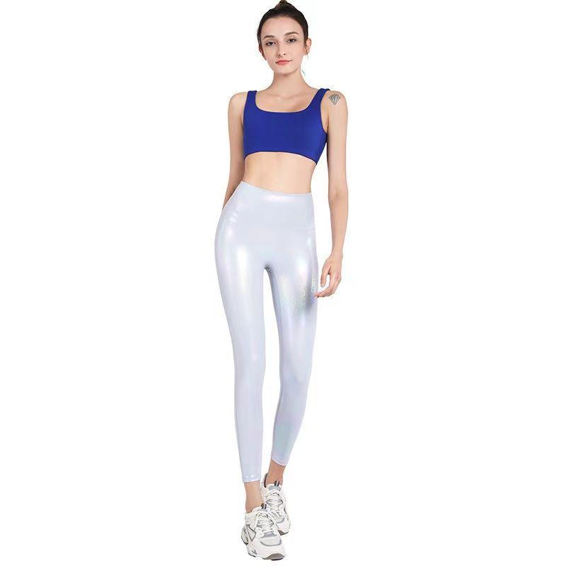 2021 New design outwear women leggings high waist colorful shiny yoga legging