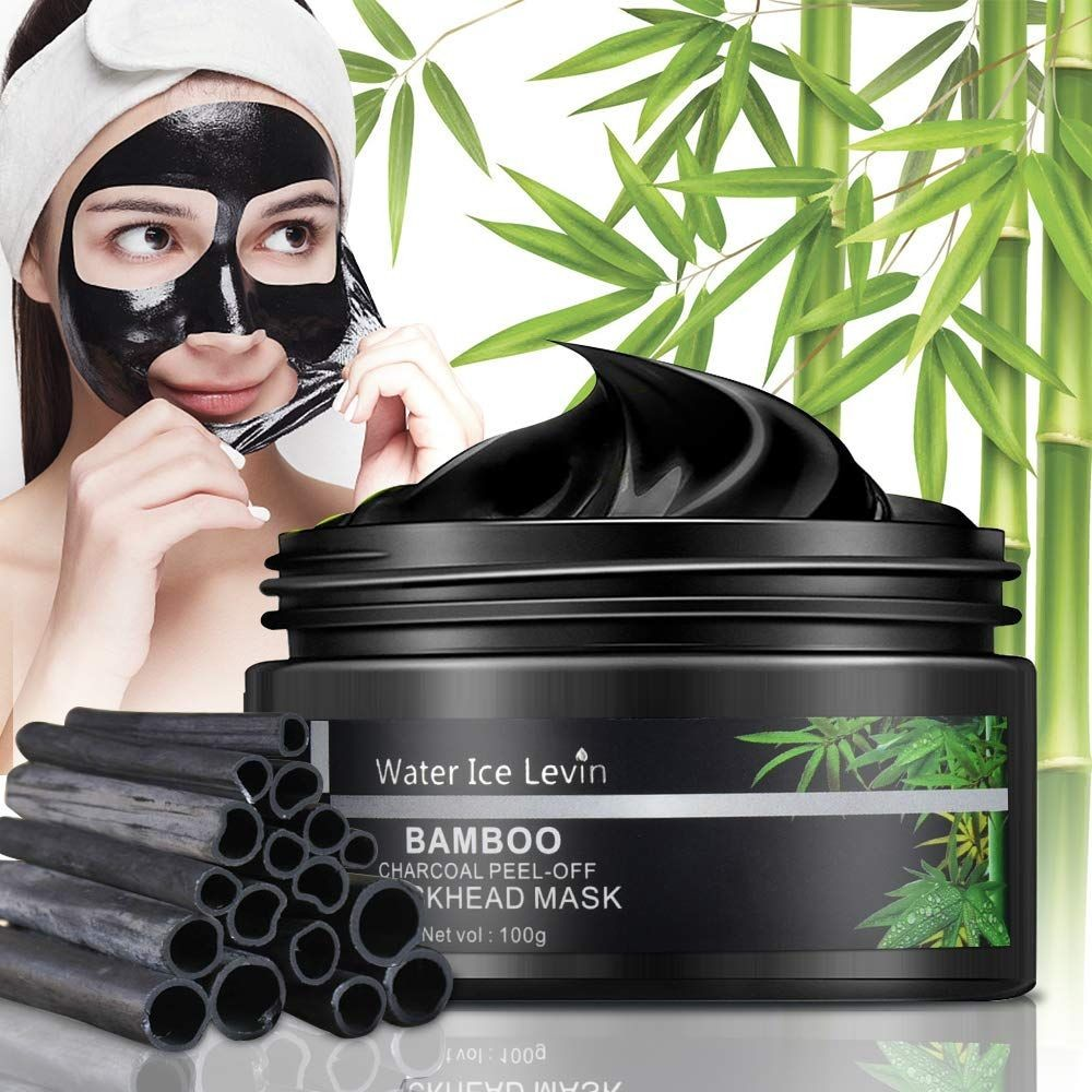 Blackhead Remover Mask, Bamboo Charcoal Peel Off Mask, Purifying Black Facial Masks for Face and Nose, Fit for Both Men and Women