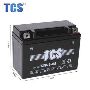 12N6.5-BS battery parts for motorcycle shineray for jetski