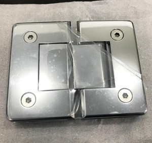 180 degree glass to glass brass hinge with plastic or asbestos gasket