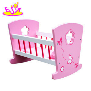 2018 new toy wooden children bed for child,high quality doll wooden baby bed for baby,hot sale preschool wooden kids bed for kid