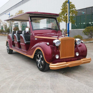 8 12 Seats Battery Powered Tourist Sightseeing Antique Classic  shuttle Electric Car Roadster