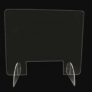 Clear plexiglass shield sneeze guards acrylic table for cashier sale counters back to school desk youth  student
