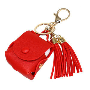Custom Bluetooth earphone cases for airpod 1/2,  high-end leather TWS Earbuds accessories with tassel