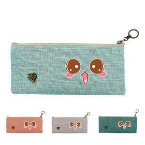 Custom Logo Cute Cotton And Linen Fabrics Pen Case