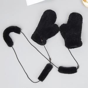 Custom winter warm knitted rabbit fur hand muff