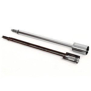 Customized hollow piston rod with hard chrome plated adjustable shock absorber