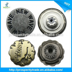 Customized metal jeans button for jeans
