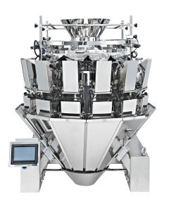 Economic granule packing machine with multihead weigher for packaging Pre-made bag
