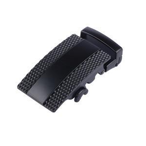 Factory Price Black Silver 3.5cm Ratchet Simple Automatic Belt Buckle