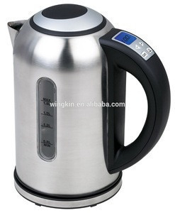Faddish Stainless Steel coffee parts wholesale water electric kettle with light water level indicator