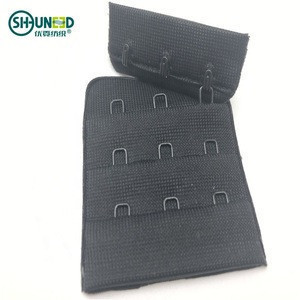 Garment accessories fabric 3*3 / 3*2  bra hook and eye tape extender for woven fashion underwear accessories