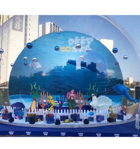 Inflatable transparent bubble tent soft playground, ball pool for kids rental, play center