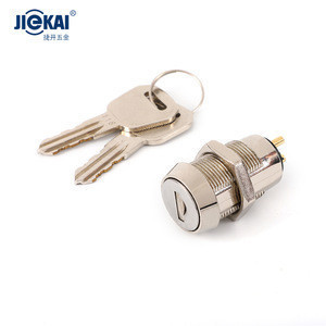 JK205 Best selling zinc alloy die-casting hole size 19mm electronic rfid cabinet key switch zinc lock for glass cabinets