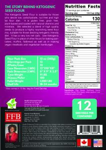 Ketogenic seed grain free plant-based plain bakery flour gluten free