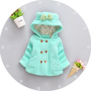 Kids Jackets & Coats Cute Cartoon Graffiti Baby Girl Warm Hooded Jackets Childrens Jacket For Girls Spring Outerwear