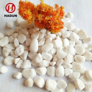 Landscaping Decorative stone tumbled white snow stone pebbles