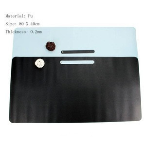 Large Office Use PU Leather Desk Computer Keyboard Mouse Pad Desk Mat