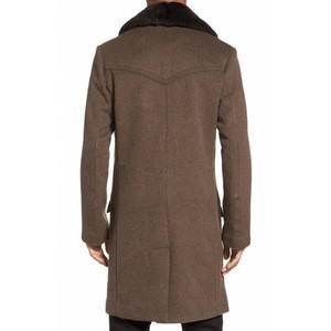 Luxuriously soft and dense cashmere double-breasted long coat