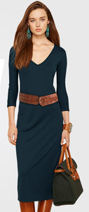 Office ladies women dress European and American style V neck slim dress with belt