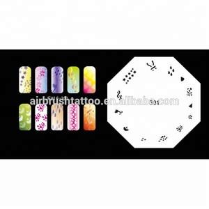 Reusable PET Material Nail Beauty Stencil