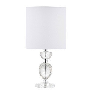 Special design cutting glass base fabric shade table lamp office LED desk light fixture for living room sofa corner