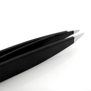 Stainless Steel Slant Tip Tweezers With Double Side Best Surgical Grade Tweezers for Eyebrow pluckers, Ingrown Hair, Nose Hair