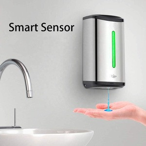 Stainless Steel Soap Dispenser Wall-Mounted Touchless Auto Hand 850 Ml