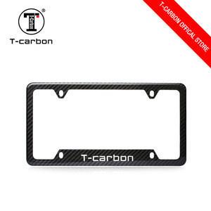 T-carbon Custom  Car USA Size  Real Carbon Fiber License Plate Frame