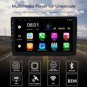 """TOPSOURCE Car DVD Player Android 7.1 Universal 10.1"""" Car Radio Player With WIFI RDS AV OUT 2 din GPS NAVIGATION 1G 16G"""
