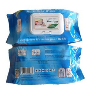 Vitamin E and Aloe vera 80pcs organic baby wipe