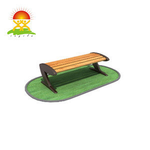Wood bench with cast iron leg outdoor furniture garden park