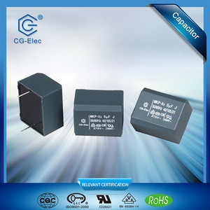 X2 MPX/MKP capacitor with ac current capacitor