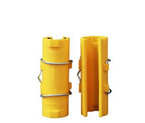 Plastic patching clip for scaffolding