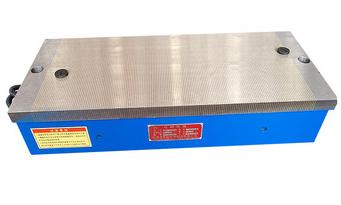 Electromagnetic chuck for knife grinder