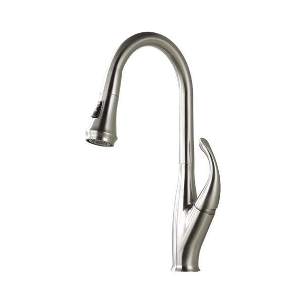SS304 Stainless Steel Pull out Bathroom Faucet Deck Mounted Tap