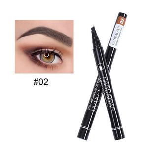 4 Fork Tip Eyebrow Pencil Waterproof Liquid Eyebrow Pen Tattoo Pencil For