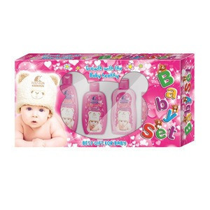 5 kind Skin Care Products - Lotion, Shampoo & body Wash, Daily Cream-to-Powder, Baby Oil soap set