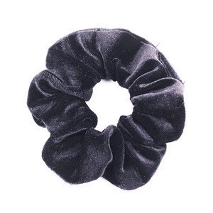 60 Colors Wholesale Fashion Women Hair Accessories Fabric Solid Colors Elastic Hair Ties Velvet Scrunchies
