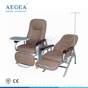 AG-AC006 advanced leather surface hospital iv infusion medical transfusion chair for sale