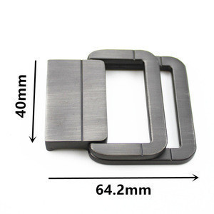 Blank double frame metal webbing ratchet belt buckle
